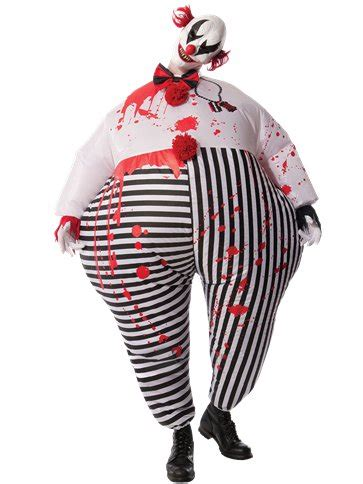 creepy inflatable clown adult costume party delights