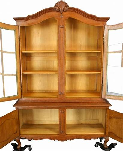 French Country China Hutch Cabinet Oak Xv