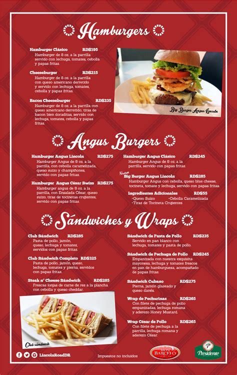menu restaurante lincoln road