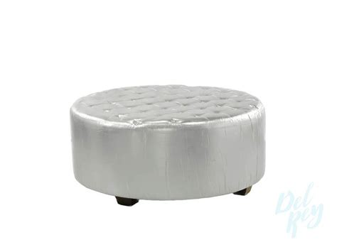 silver lounge   ottoman del rey party rentals