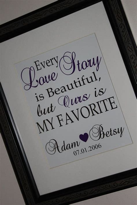 Personalized Couples Print : Every Love Story by
