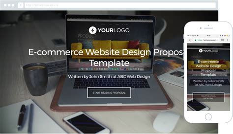 Free Ecommerce Web Design Proposal Template