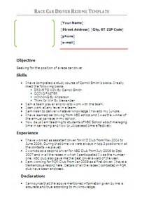 Car Driver Resume Doc by Racing Driver Resume Sales Driver Lewesmr