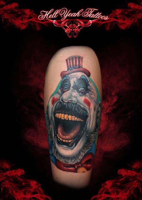 creepy funny clown  school tattoo  hellyeah tattoos