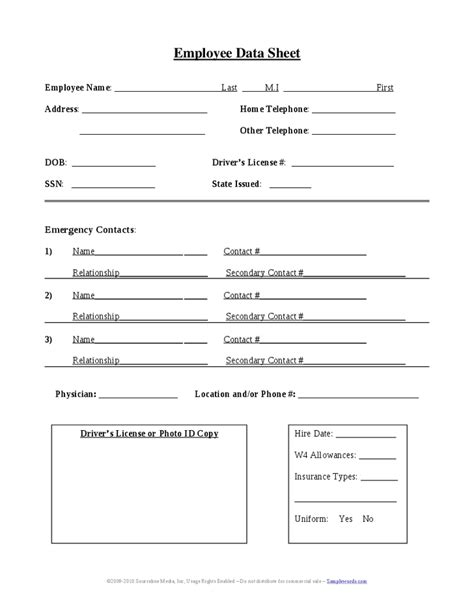 employment information sheet search results for employee sign in sheet template