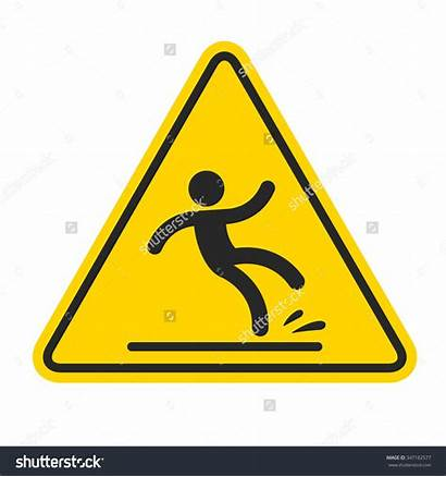 Wet Floor Clipart Sign Falling Yellow Triangle