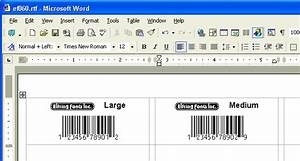 Print bar code labels using your word processor a barcode for Barcode label template word