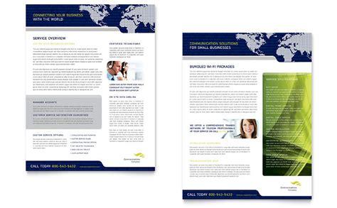 global communications company datasheet template word