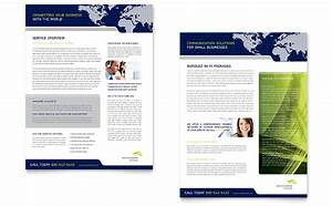 Powerpoint Templates For Training Global Communications Company Datasheet Template Word