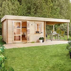 Gartenhaus Mit Lounge : blockbohlenhaus lounge 2 holz grundfl che 14 5 m wandst rke 28 mm 7435 ~ Indierocktalk.com Haus und Dekorationen