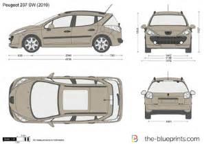 dimensions peugeot 207 blueprints gt cars gt peugeot gt peugeot 207sw