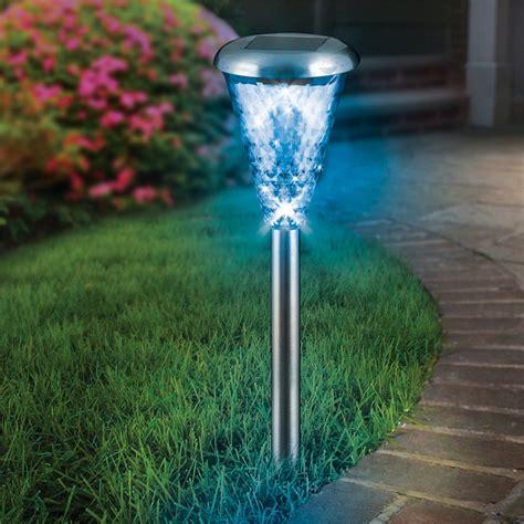 Lytworx Stainless Steel Glass Lens Led Colour Change Solar
