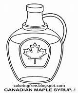 Maple Canada Syrup Coloring Pages Colouring Printable Canadian Drawing Tree Clipart Bottle Template Getcolorings Leaf Diagram Sketch Map sketch template