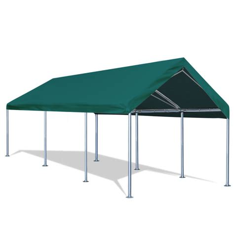 quictent   carport heavy duty car canopy galvanized car boat shelter  reinforced