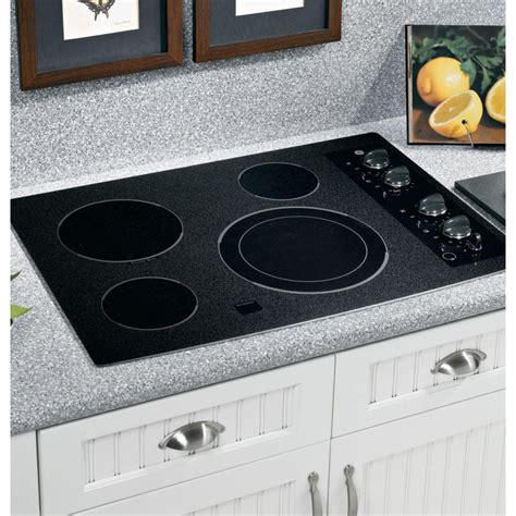 ge jpbmbb  smoothtop electric cooktop   ribbon elements  dual element