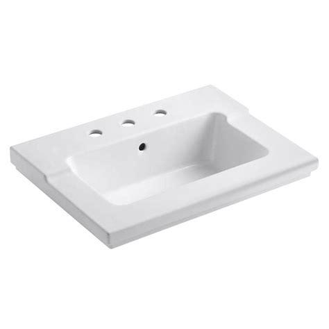 Kohler Tresham Sink Dimensions by Kohler Tresham 25 7 16 In Vanity Top In White K 2979 8 0