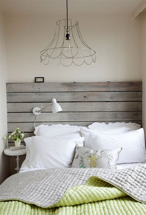 creative  stylish wooden headboard ideas