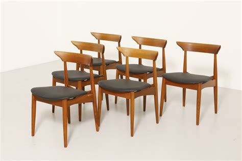 6 dining chairs in walnut modestfurniture