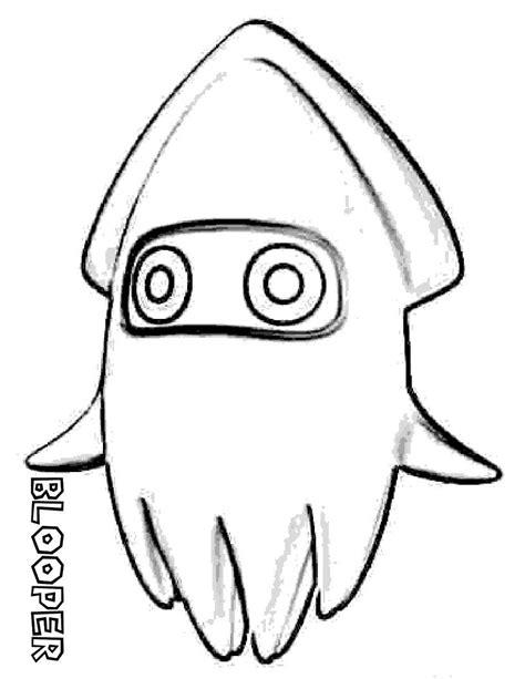 calamar mario bros color mario bros  colorear