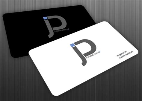 J-design Logo On Business Cards By Jurgenz On Deviantart