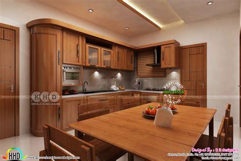 dining kitchen interior designs kerala home design