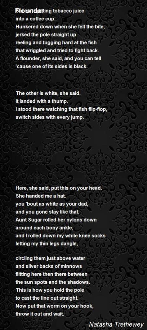 flounder poem  natasha trethewey poem hunter