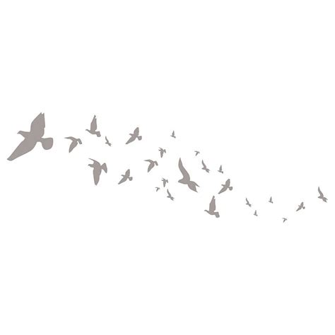 flying birds wall stickers  spin collective