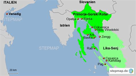 stepmap kvarner bucht landkarte fuer deutschland