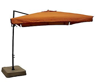 southern patio square offset easy tilt umbrella with base