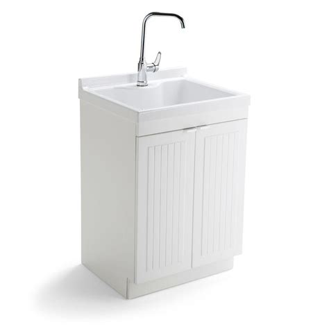 white laundry sink cabinet simpli home murphy 24 in w x 20 5 in d x 34 5 in h abs