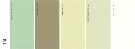 martha stewart paint 5 color palette card 18