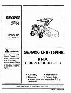 Craftsman 5 Hp Chipper Shredder
