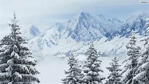Winter Mountains Desktop Wallpaper