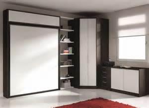 Lit Dans Armoire Ikea by Armoire Lit Escamotable Eros Avec Rangements Couchage 140