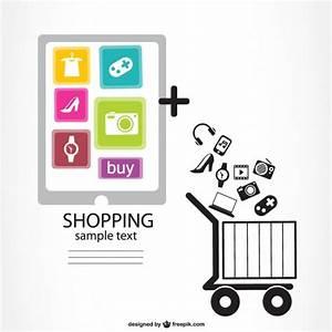 Design Online Shop : infographic online shopping design vector free download ~ Watch28wear.com Haus und Dekorationen