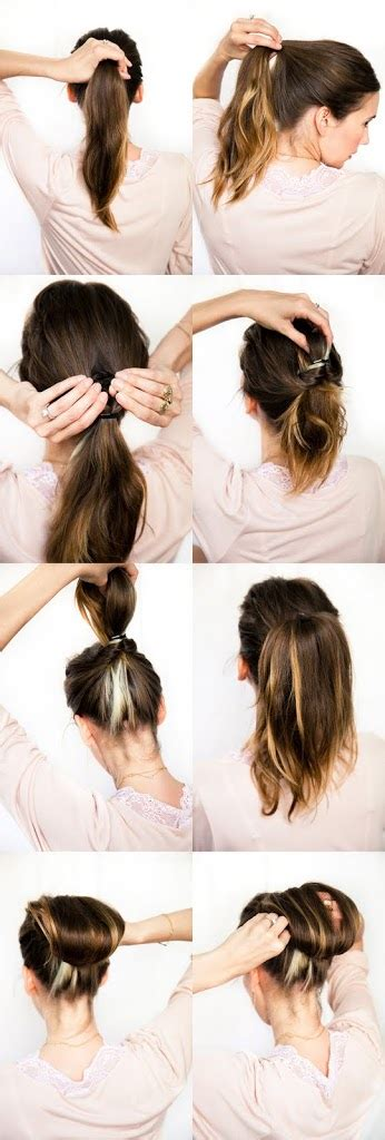 diy wedding hair chestnut bun a cup of jo