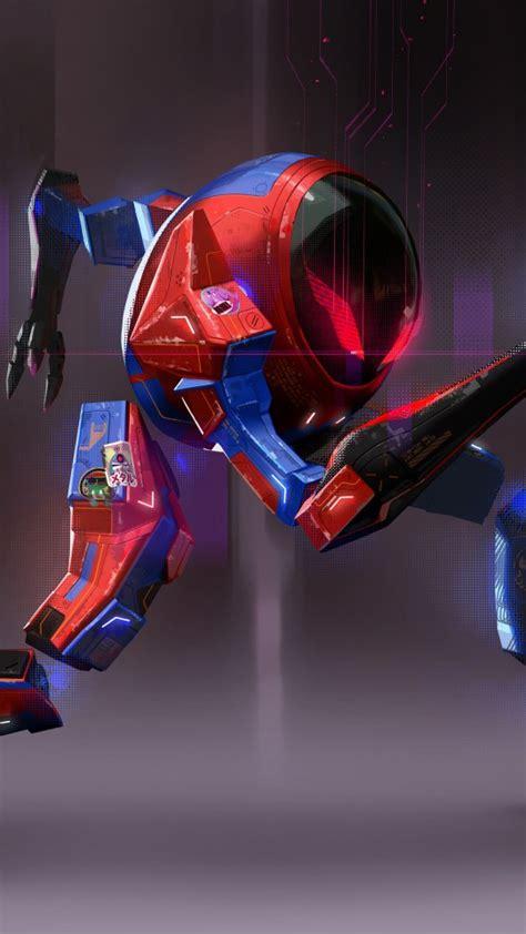spider mech suit  spider man   spider verse