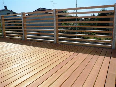 recinzioni per terrazzi recinzioni in legno per terrazzi