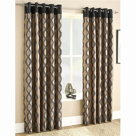 faux silk lined eyelet curtains black