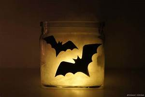 Halloween DIY Last Minute Deko Spinnennetz Windlichter
