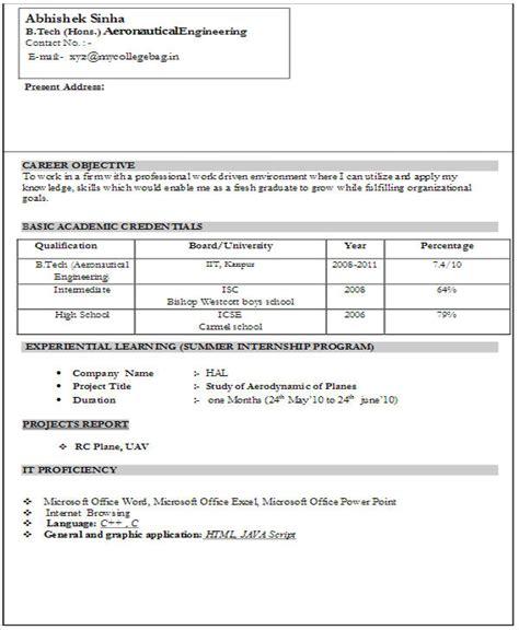 cv format  freshers    editable resume