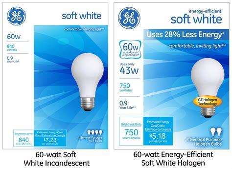 ge s energy efficient soft white halogen light bulb offers