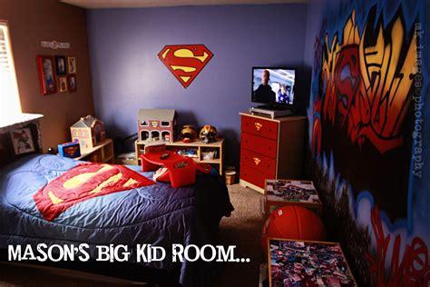 masons superman room makeover superman roomsuperman