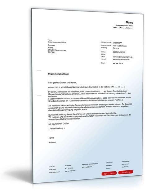 Nicht Vergessen Antraege Und Anzeigen Bei Behoerden by Anzeige Beim Bauamt Ungenehmigtes Bauen Muster Vorlage
