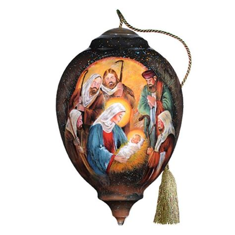 nativity and attendants ornament from http