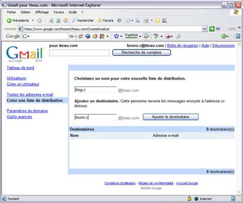 Serveur De Listes De Diffusion Pour Le Gmail Pour Domaine Brico Info Le De Bruno Catteau