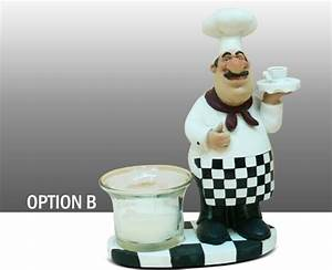 fat chef figure kitchen statue candle votive tea light With kitchen cabinets lowes with home interiors votive candle holders