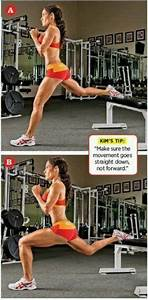 Bulgarian lunges. BOOM. BEST lunge variation for your ...