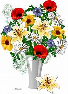 Vase Clipart Flower Arrangement Pencil And In Color Vase