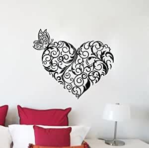 If you liked it, please click like and subscribe. Amazon.com: TGSIK DIY Heart Shaped Flower Vine Vinly Removable Wall Decal Stickers Art Kids ...
